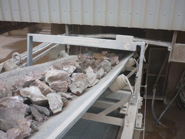 TN77 Metal Detector in aggregate industry
