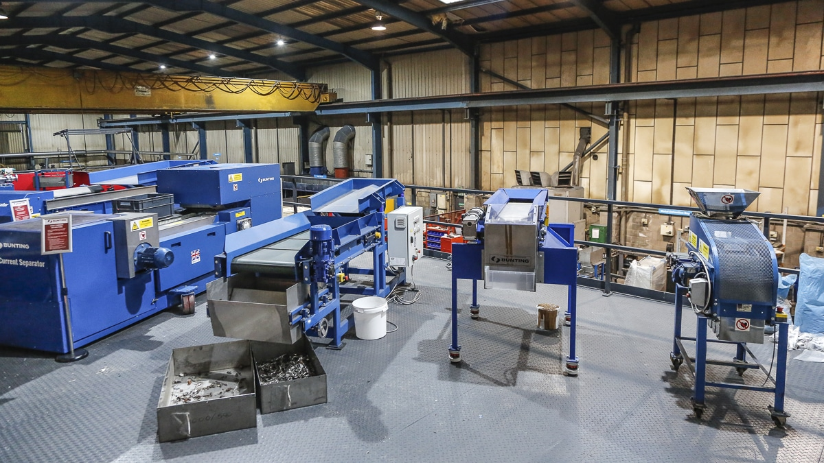 Bunting Recycling Test Facility